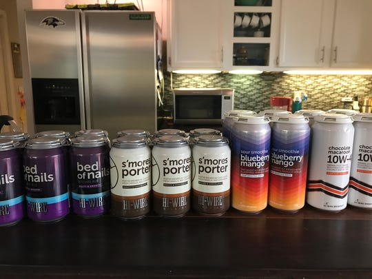 A recent delivery from Hi-Wire Brewing.