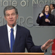 NC Governor Roy Cooper at a 1 p.m. press briefing on March 23.