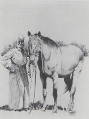 An artist's rendition of Henrietta Williams Foster or Aunt Rittie, as drawn by Mark Kohler for historian and author Louise S. O'Connor. No known images of Aunt Rittie exist.