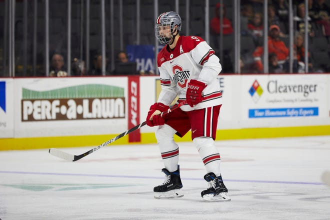 In four years at Ohio State, Tanner Laczynski had 48 goals and 143 points in 138 games.