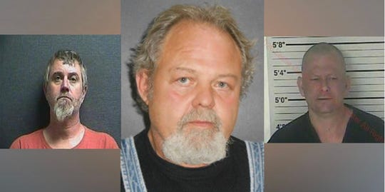 "Kentucky State Police say (from left to right) Shawn F. Satchwell, Curtis Wade Sharon and Ricky H. Asher were arrested Friday in connection with the 1989 murder of Bernard ""Cowboy"" Hopkins."