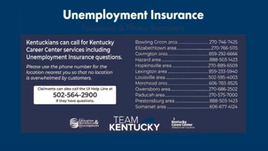 Unemployment Insurance help line by region