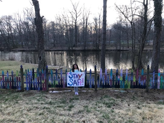 Something to lift our spirits, Rahway resident Raquelle Reinoso, 9, painted a rainbow on her backyard fence. She hopes everyone stays safe and stays home when possible.