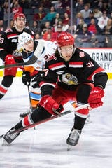 Red Wings defenseman prospect Moritz Seider collected 22 points in 49 games with the Grand Rapids Griffins of the AHL.