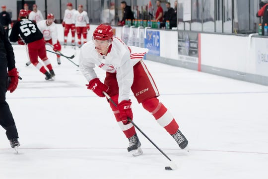 Detroit center Chase Pearson had eight points in his final 12 games with the Grand Rapids Griffins.