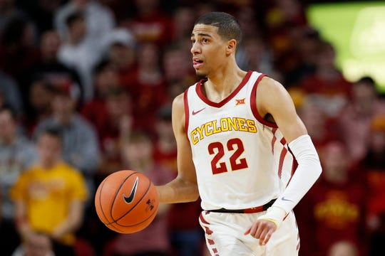 Iowa State guard Tyrese Haliburton could be an option for the Pistons in the NBA draft.