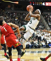 Michigan State senior guard Cassius Winston was named a second-team All-American by the United States Basketball Writers Association on Monday, the third such honor he's received in the past week.