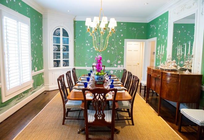 A dining room designed by Jenny Kramer