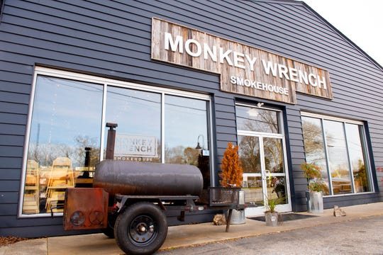 The Monkey Wrench Smokehouse in downtown Traveler's Rest