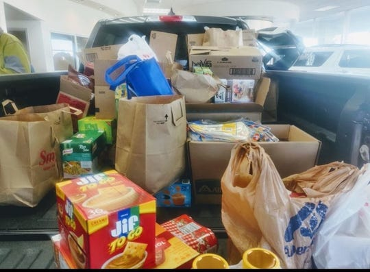 After the coronavirus shuttered its campus, the University of Providence donated its unused food to the Great Falls Public Schools. GFPS principals then loaded up a portion of it and delivered it to families in need.