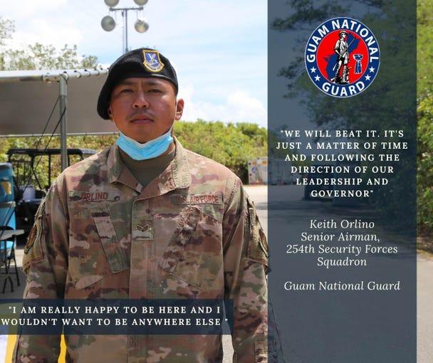 A Guam National Guard member highlight