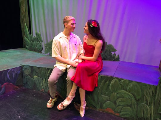 "Zach Huston and Brianna Noviello, the doomed lovers in ""Once on This Island,"" the Spencer-Van Etten musical that was canceled in response to the coronavirus pandemic."
