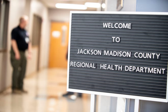 West Tennessee leaders in Jackson held a briefing to update the community about the public health in the local community about  coronavirus, or COVID-19 at Jackson-Madison County Regional Health Department in Jackson, Tenn. Monday March 23, 2020.