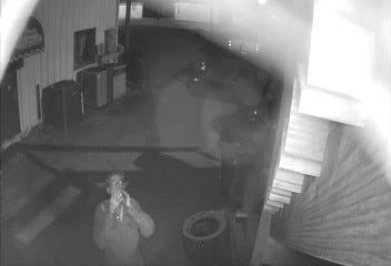 Surveillance video from the scene of a March 20, 2020, fire in Church Point.