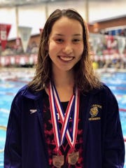 Lancaster sophomore Mia Hensley is the 2020 Eagle-Gazette Swimmer of the year.