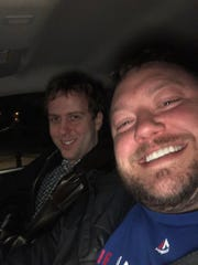 Sometimes, my rideshare adventures lead me to picking up my co-workers, in this case fellow LSJ sportswriter Nate Atkins. No free rides, man!