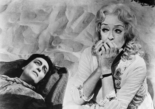 "Life's a beach and then you die: Joan Crawford and Bette Davis in ""What Ever Happened to Baby Jane?"""