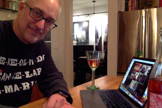 Robert Schwoch hosted a virtual cocktail party for friends. It's a good way to get together when you can't actually get together.
