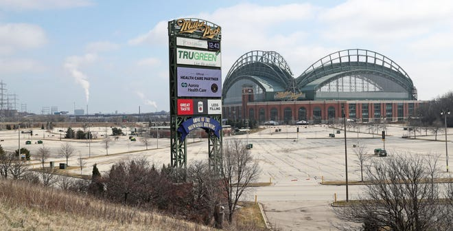 Miller Park has been quiet with concerns about the spread of coronavirus causing Major League Baseball to shut down.