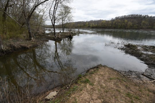 Small slicks of what appeared to be petroleum product appeared in a White River tributary near the Cotter Water Treatment Plant Monday afternoon. The area had a significant diesel smell in the air as well.