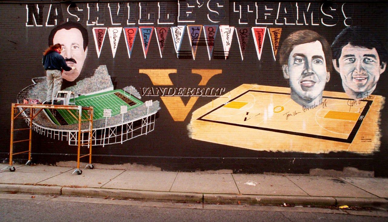 Michael Cooper paints Vanderbilt's third football coach, Robert