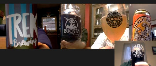 Despite the COVID-19 outbreak, The Brew Crew was still able to meet-up via video chat to enjoy their favorite brews and food.