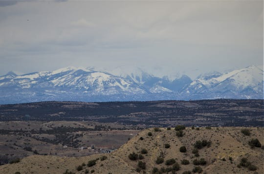 Recent storms rolling in from the Pacific have replenished the snowpack in the San Juan Mountains as seen from Crouch Mesa on March 23, 2020.
