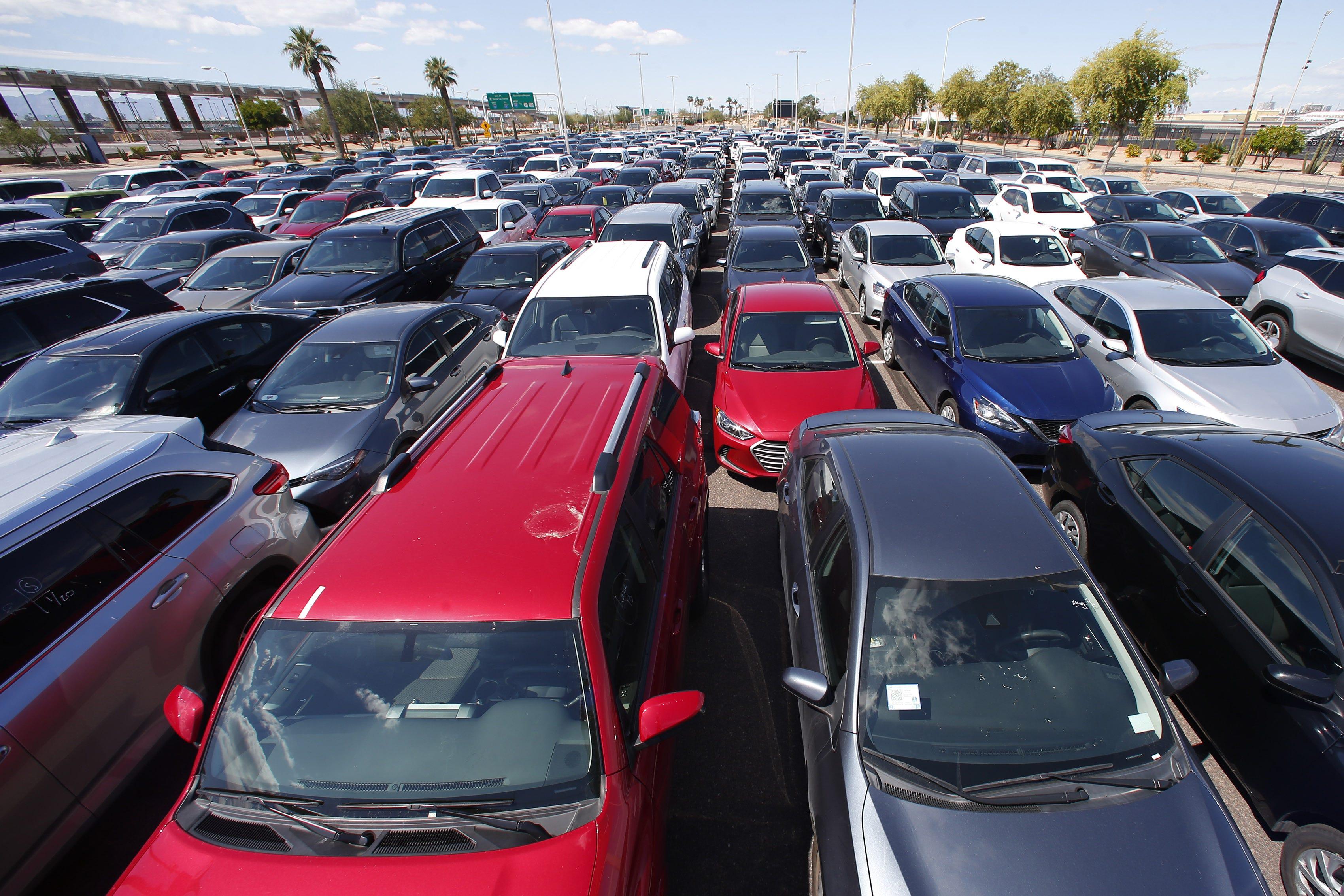 Rental cars are stacking up in Arizona as coronavirus keeps travelers away