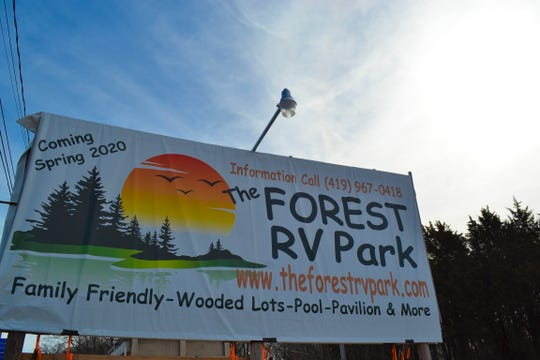 Work is underway at Forest RV Park, which will offer 108 campsites with water, sewer and electric service. The park will feature several amenities, including a pool, a playground and a game room in the former dinosaur workshop. Forest RV Park will offer a drive-thru Sneak Preview from 10 a.m. to 2 p.m. March 28 and will open on April 15.