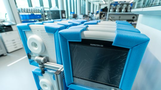 A Hamilton ventilator. The machines are built in Switzerland and distributed from Reno, Nev.