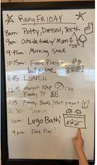 The family's Rainy Friday list.