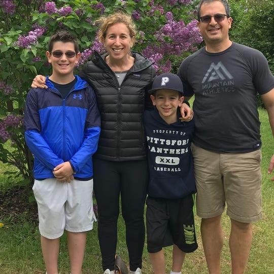 Susan Sagan Levitan of Pittsford with her family.