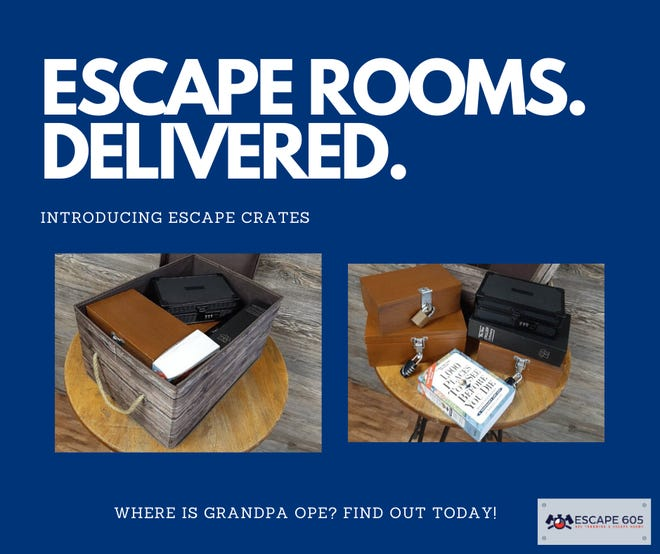 """Escape 605's """"Escape Crate"""" is one local business' way of dealing with social distancing."""