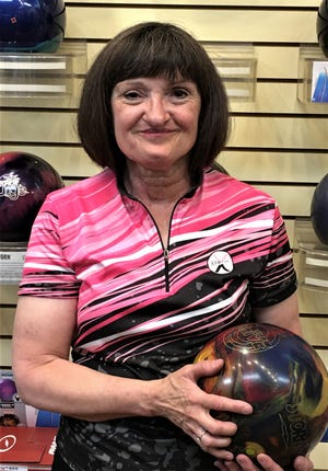 Gayla Ruesch led Mesquite scoring last week with a 618 series on games of 227, 201 and 190 during which she threw a total of 20 strikes. She has been one of the top-5 women bowlers since she began bowling in Mesquite in 2014