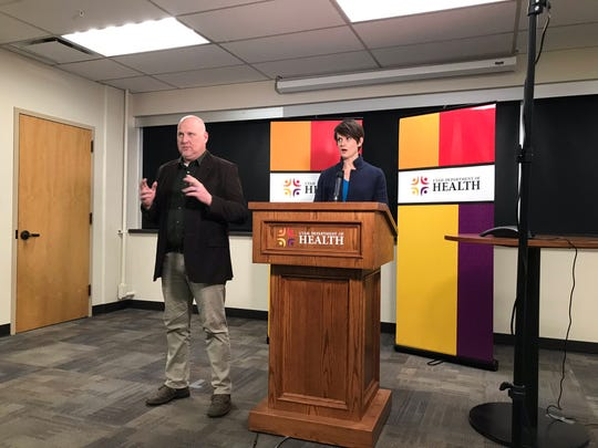 Angela Dunn, the state epidemiologist for the Utah Department of Health, speaks Monday during a press briefing on the COVID-19 outbreak.