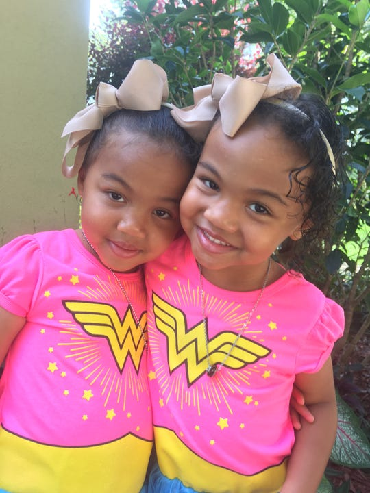 Eva and Leah Joseph, 4-year-old twins, are this year's Jr Ambassadors, selected to represent the JDRF/One Walk in their communities. They are both Type 1 diabetics.
