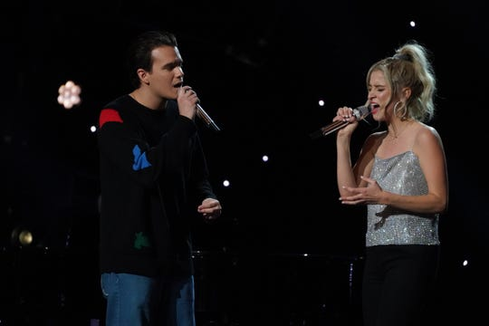 """Wilmington's Margie Mays sings Meghan Trainor's """"Like I'm Gonna Lose You"""" with boyfriend Jonny West during Sunday's Hollywood Week episode of """"American Idol."""""""