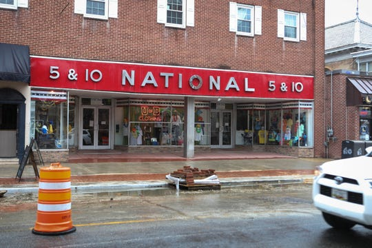 National 5 & 10 in Newark sits empty, closed due to the COVID-19 outbreak on Monday, March 23.