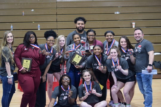 Pineville's girls recently won their third straight regional title Feb. 28.