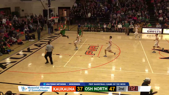 Kaukauna and Oshkosh North square off in a Fox Valley Association boys basketball game on Jan. 13, 2017, at Kaukauna. Spartans standout Tyrese Haliburton scored 24 points in North's 92-80 victory. Jordan McCabe finished with 27 points to pace the Ghosts.