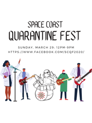 Space Coast Quarantine Fest, a live-streamed music festival to benefit Brevard Schools Foundation, will be Sunday, March 29 from noon to 9 p.m.