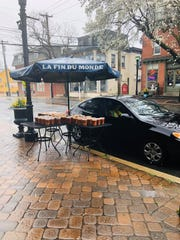 The Red Hen in Swedesboro has been offering free soup to the community, setting out containers of vegetable soup on a table so people can drive up, grab a container and go.