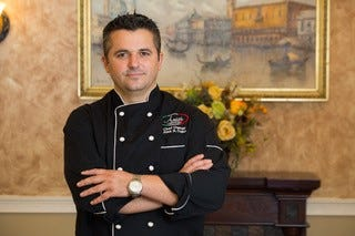 Chef Alex Daku  of Amici Restaurant in Cherry Hill has offered to feed seniors soup for free during the coronavirus pandemic.