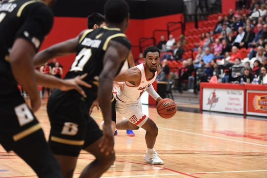 St. Francis guard Keith Braxton, a Delsea graduate, joined the exclusive 2,000-point, 1,000-rebound club during his senior year.