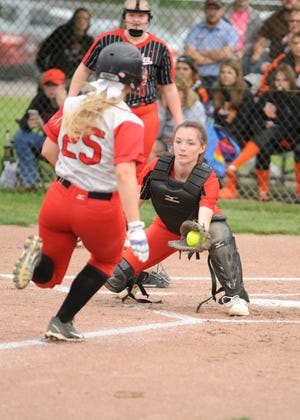 Westfall softball defeated Alexander 10-0 in five innings in a Division III district semifinal game at Unioto High School in Chillicothe, Ohio on May 15, 2019.