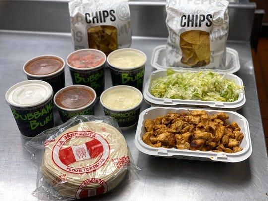 Family taco kit from Bubbakoo's Burritos.