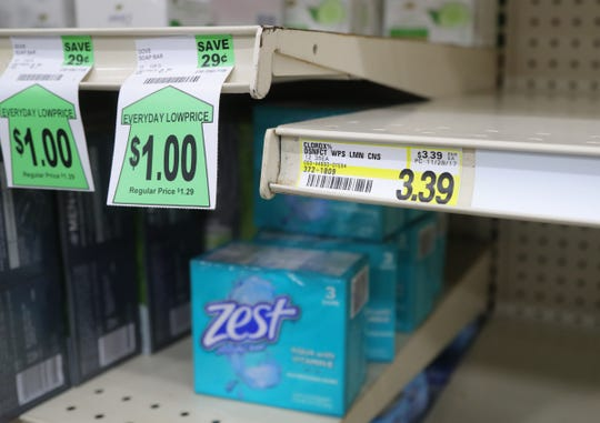 Items like hand-sanitizer, toilet paper and cleaning products are among those subject to price-gouging.