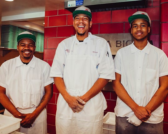 Bigalora Wood Fired Cucina employees, from left: Dajaun Jonas, Byron Brown and Romel Reed.