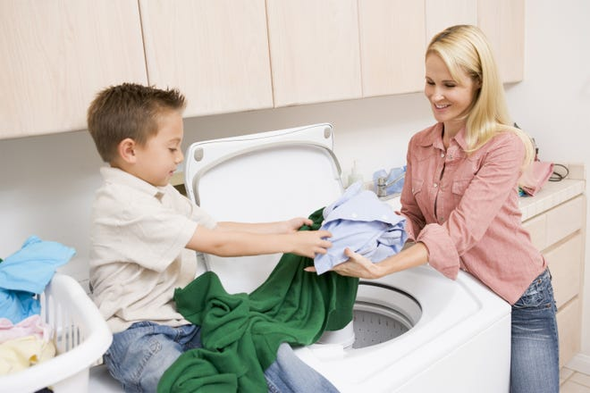 Spending more time at home, we can teach valuable home skills in the laundry room, the kitchen and the outdoors.