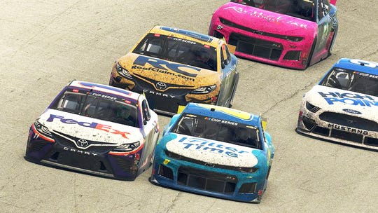NASCAR used Massachusetts-based iRacing's popular online game platform to televise its eNASCAR iRacing Pro Invitational race at the virtual Homestead-Miami Speedway.
